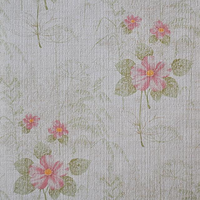 Zeer Schermbloem behang met een patroon van bloemen en groene bladeren @DE02