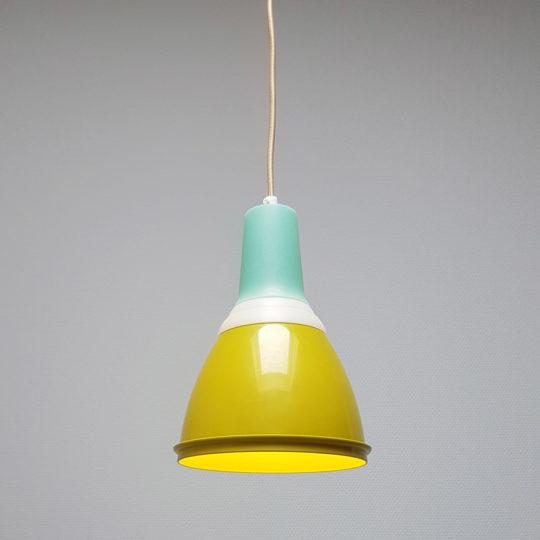 Tupperware Upcycle lamp mosgroen aan