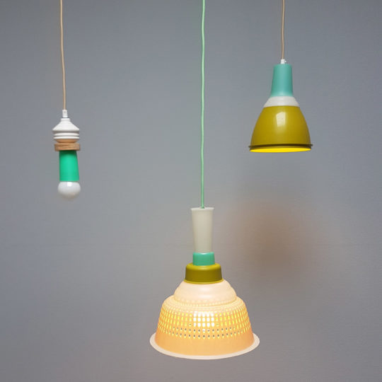 Tupperware Upcycle lampen set