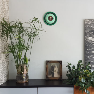 klok in groen