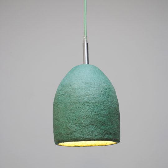 papierpulp lampen mintgroen S