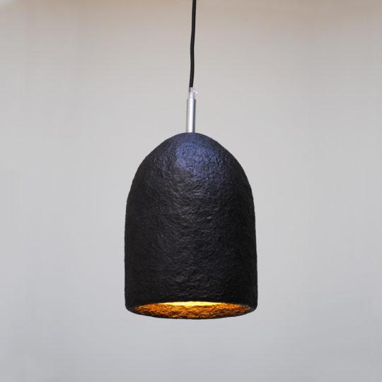 papierpulp lampen zwart L
