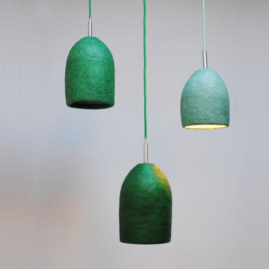 papierpulp lampen