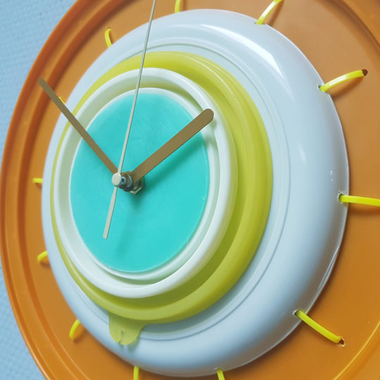 clock upcycled